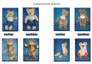 Restaurierte Bären